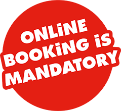 Booking online is mandatory