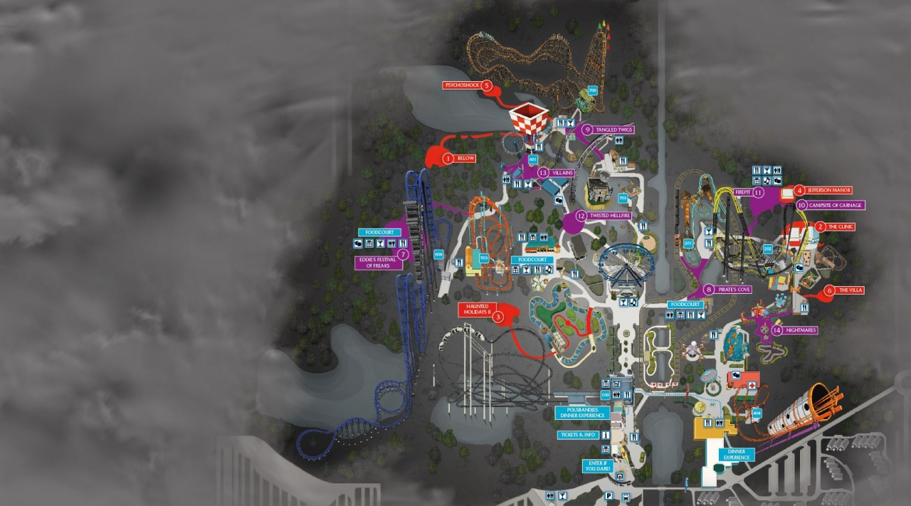 Halloween Fright Nights Parkmap